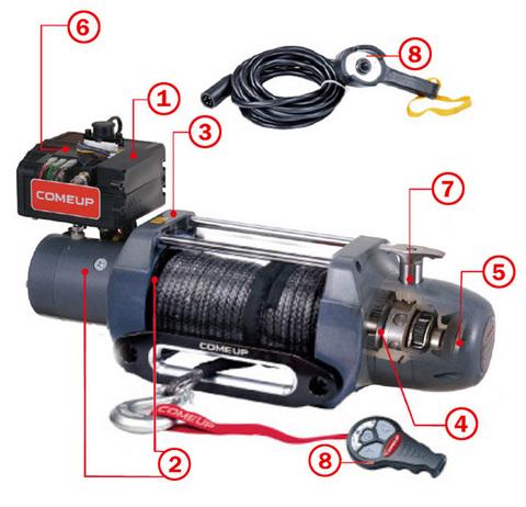 Лебедка электрическая для внедорожников ComeUp Seal DS-9.5s 12V.
